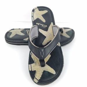 Clarks Thong Flip Flop Sandals 8